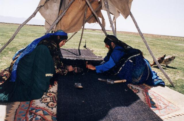 nomad women persian carpet